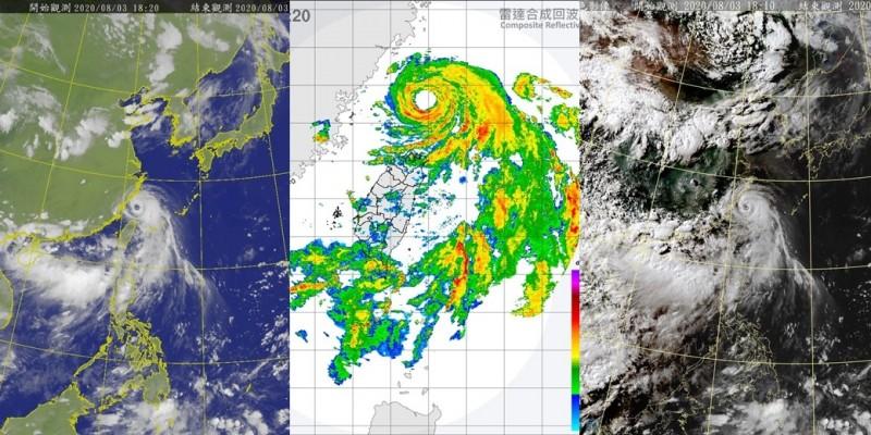 鄭明典認為,哈格比颱風強度似乎已達巔峰。(圖取自中央氣象局)