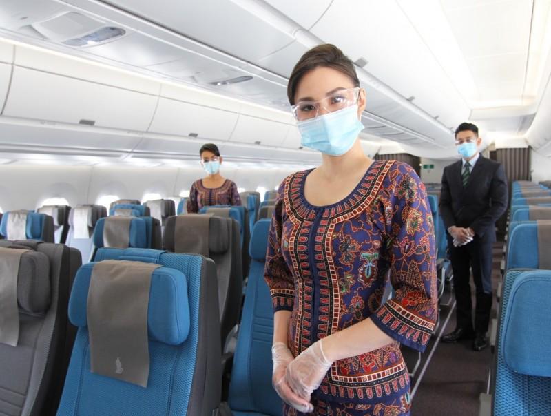 新加坡航空今天表示,將在今年9月恢復一週3班往返新加坡-台北之間的載客服務。(新加坡航空提供)