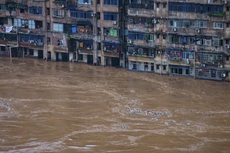 中國洪水災情慘重。(美聯社)