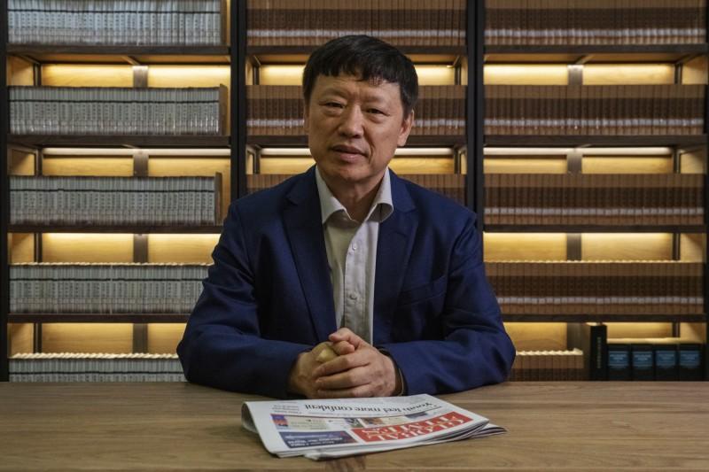 美中關係近日未有緩勢,中國持續對美強化媒體戰,官媒《環球時報》總編輯胡錫進(見圖)連兩天放話稱「中方已準備全數撤出駐美記者」,並揚言將「猛烈報復」,目標直指派駐香港的美國記者。(蓬勃資料照)