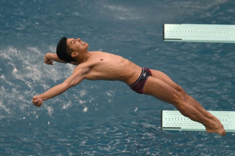 日本五屆奧運會跳水選手寺內健確診,成為入選東京奧運會日本代表團的首位感染者。(法新社)