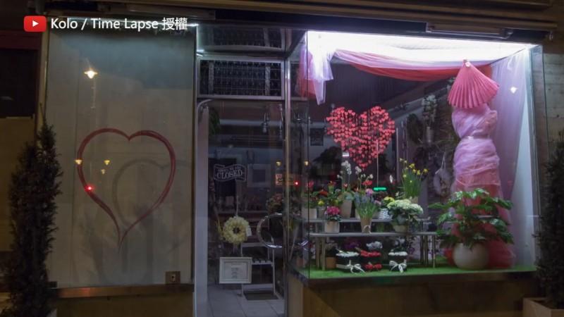 記錄店家櫥窗一年來展示品的變化。(YouTube Kolo / Time Lapse 授權)