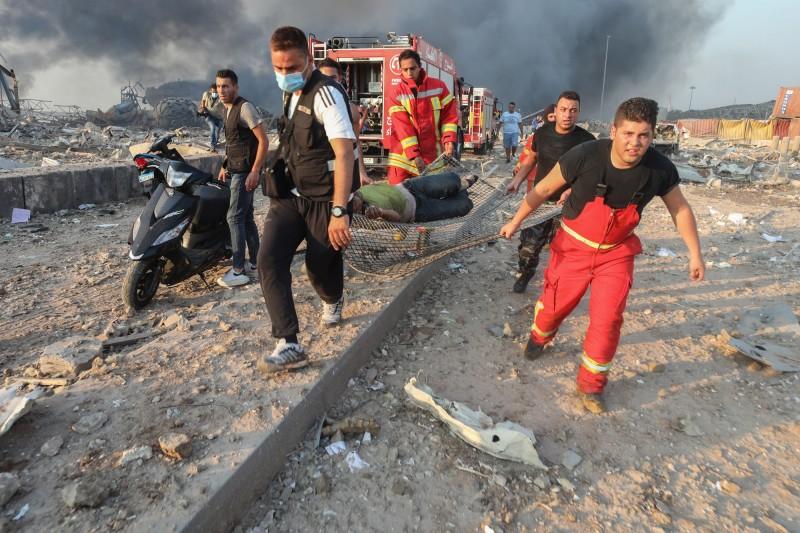 黎巴嫩衛生部長哈山表示,有數百人在爆炸中受傷。(彭博)