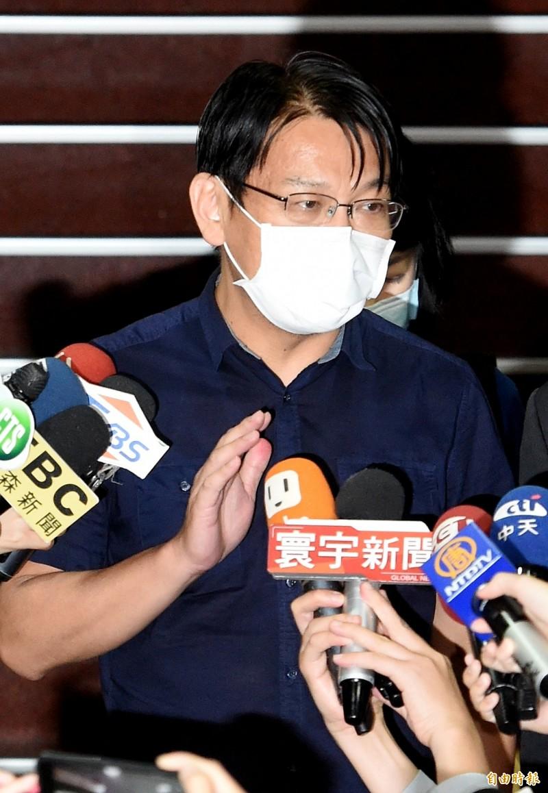 前立委徐永明獲80萬元交保,理由是「期約收賄」尚未收款。(記者朱沛雄攝)