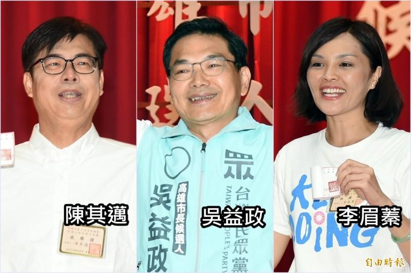 高雄市長補選進入最後階段,3位候選人各自努力爭取選票,高市選舉委員會今公布,本次補選選舉人人數確定為230萬1597人。(資料照)