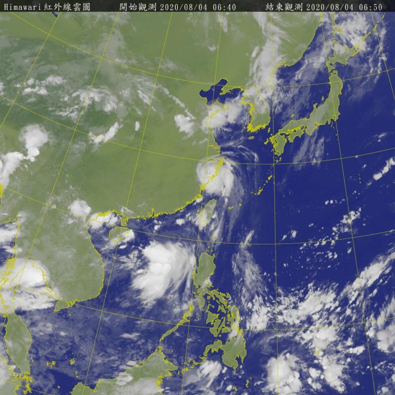 哈格比已在今凌晨3點30分左右在中國浙江省溫州市沿海登陸。(圖擷取自中央氣象局)