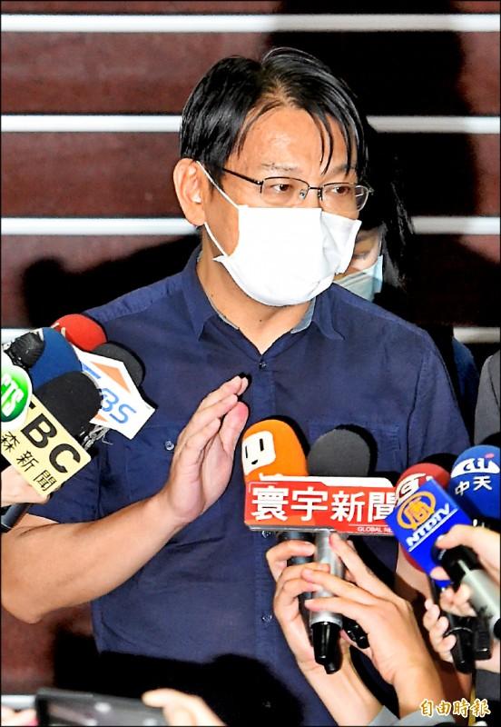 台北地院4日裁定徐永明80萬元交保。(記者朱沛雄攝)