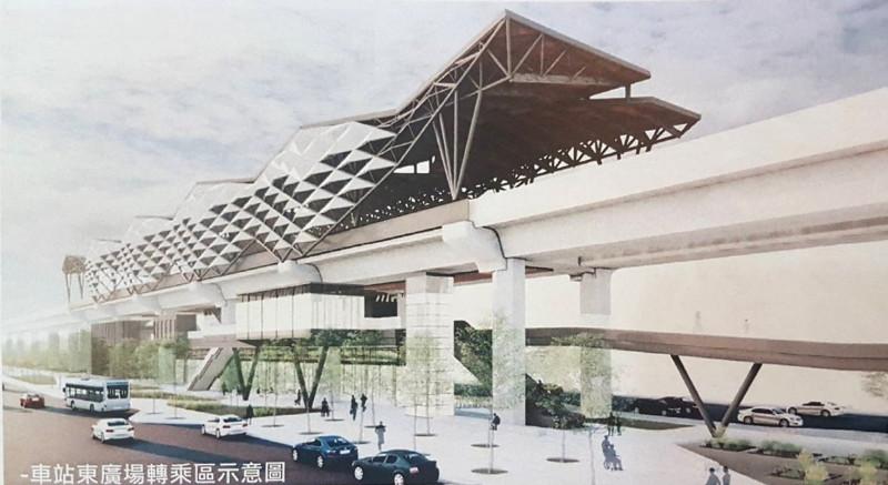嘉北車站示意圖。(記者林宜樟翻攝)