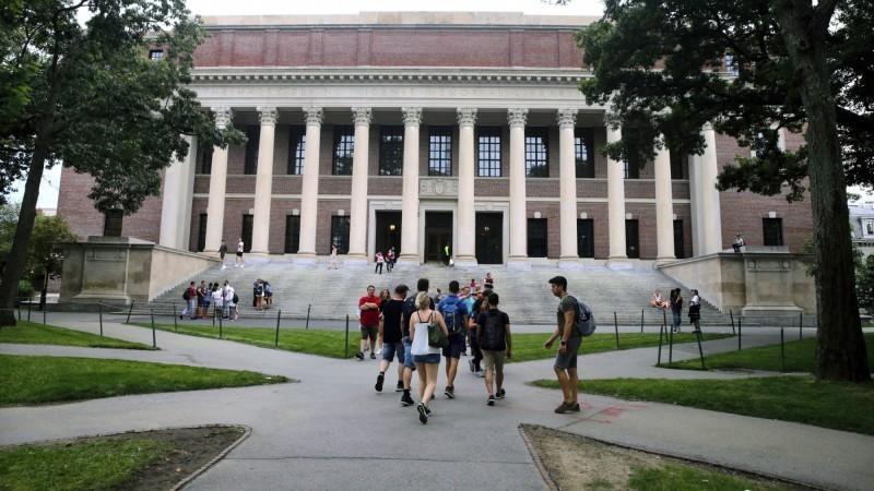 圖為哈佛校園。(美聯社)