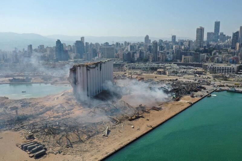 黎巴嫩首都貝魯特港口地區昨(4日)發生大爆炸,造成至少100人死亡,近4000人受傷。(法新社)