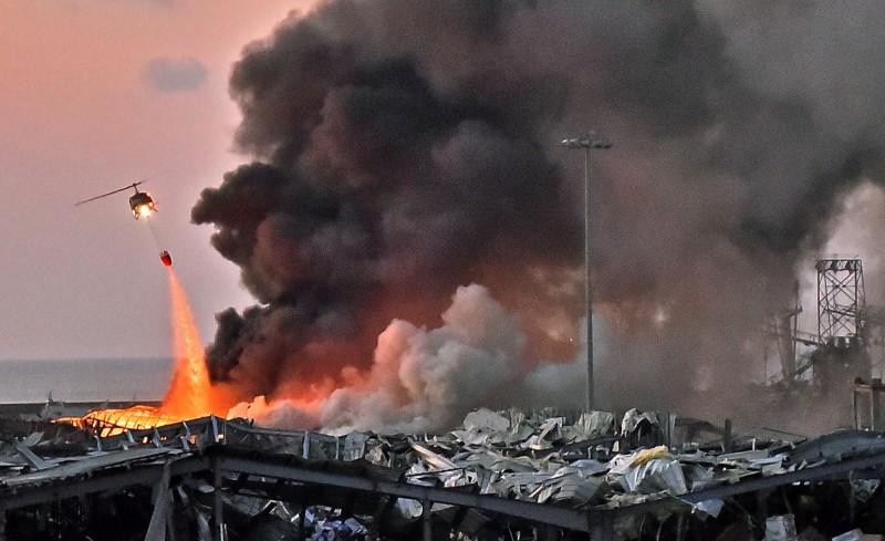 黎巴嫩首都貝魯特港區4日發生大爆炸,至少造成78人死亡,超過4千人受傷。(法新社資料照)