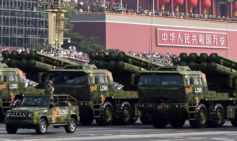 中國被衛星拍到已在東部戰區部署新型多管火箭系統「PCL191」。(圖取自中新社)