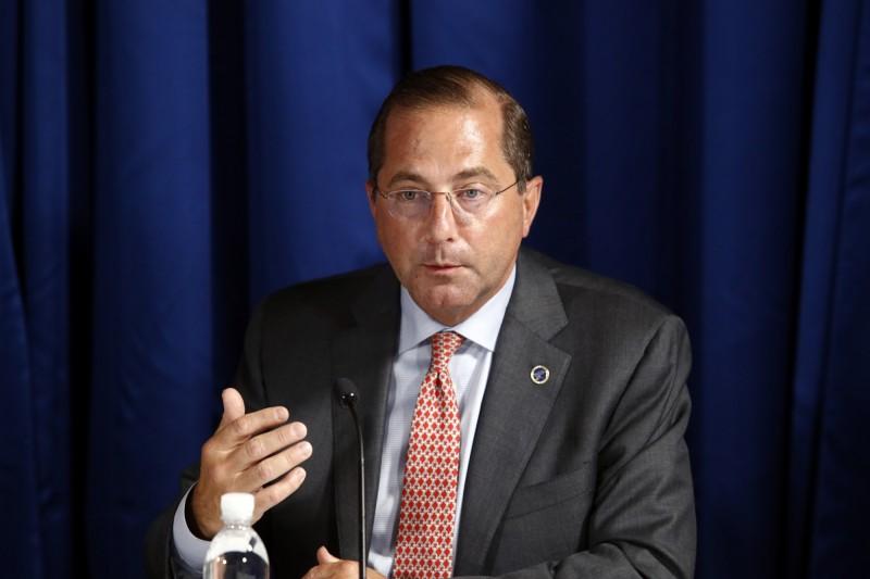美國衛生及公共服務部部長阿札爾(Alex Azar)將在近期訪台。(美聯社)