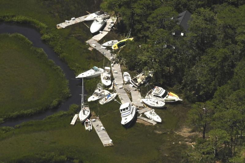 伊薩亞斯橫掃沿途所經各處,在南卡羅來納、維吉尼亞、馬里蘭、新澤西各州造成災情。(美聯社)