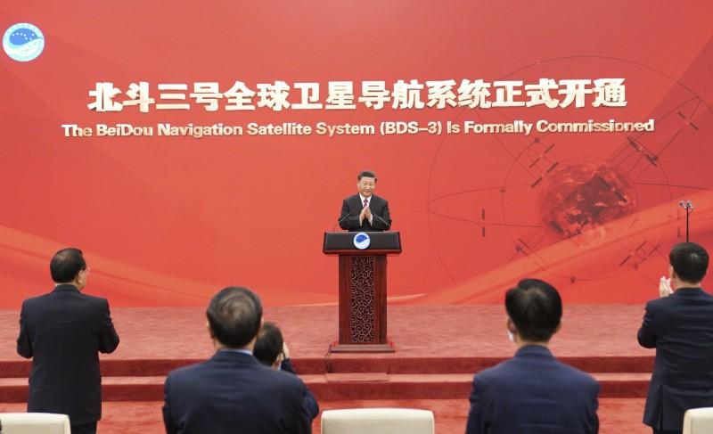 中國國家主席習近平7月31日宣布北斗衛星導航系統正式開通。(美聯社資料照)