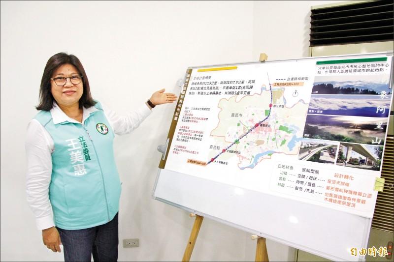 立委王美惠昨邀集各單位討論新嘉義車站設計。(記者林宜樟攝)