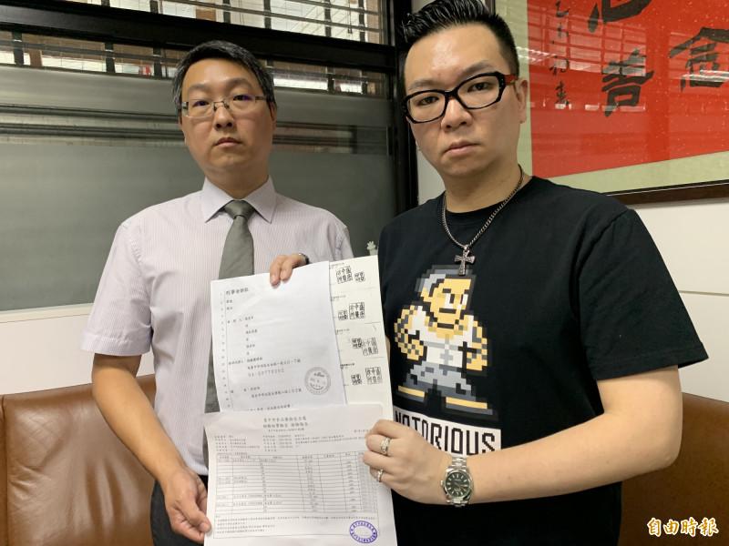 張彥彤表示全家已對呂世明控告殺人罪。(記者蔡淑媛攝)