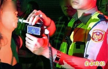 高雄楊姓女子酒駕吹了50次酒測器都失敗,她要求員警帶她去醫院抽血未果被罰18萬元。示意圖。(資料照)