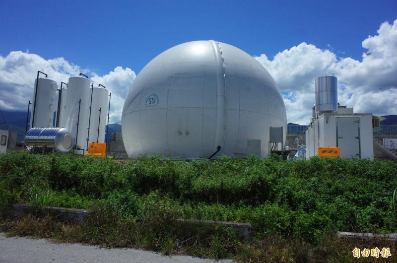 為解決畜牧業糞便及廢水問題,環保局在玉里鎮興建沼氣發電設施,每天可處理畜牧廢水300公噸來發電,預計今年可完工。(記者花孟璟攝)