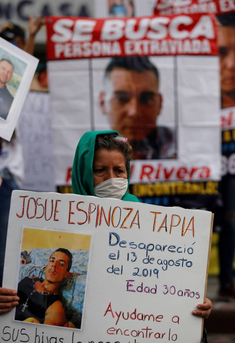 5日在墨西哥城有7萬多名失蹤者的家屬走上街頭,向政府提出訴求。(歐新社)