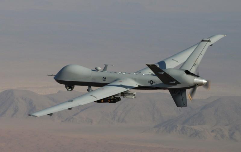 《路透》獲悉,美方打算向台灣出售至少4架「海上衛士」(SeaGuardian)無人機。圖為MQ-9死神無人機。(美聯社)