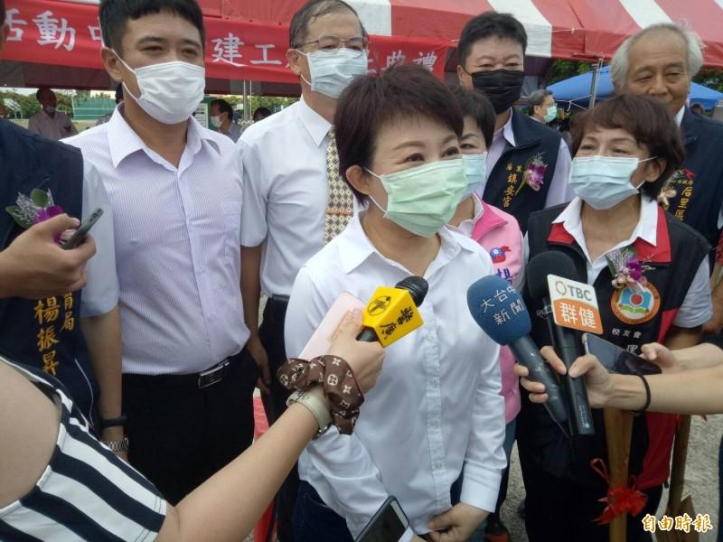 台中市長盧秀燕受訪。(記者張軒哲攝)