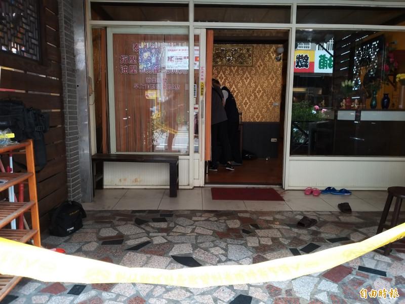 湖口情殺案發生地點位在新竹工業區的外圍街道上,店家林立極為熱鬧,女子被砍殺前的尖叫聲引發民眾議論紛紛。(記者廖雪茹攝)