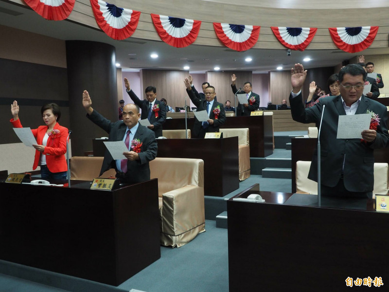 南投縣議會第19屆議員,前年12月25日宣誓就職,不到兩年已有數位議員去職,還有2位卡到官司,1人還在訴訟中,1人則遭羈押。(資料照,記者陳鳳麗攝)