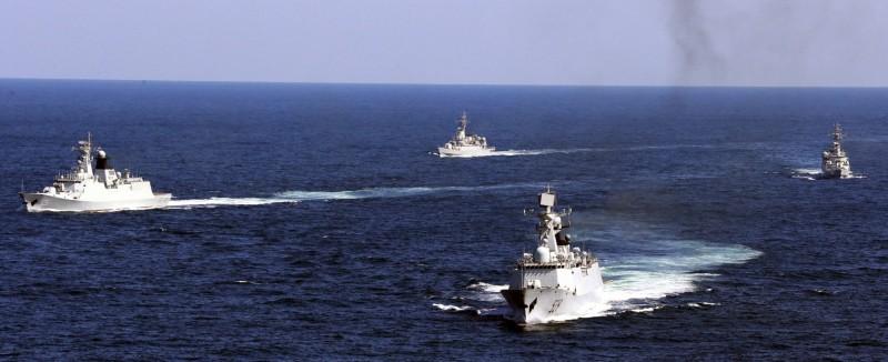 圖為中國2012年在舟山海域軍演畫面。(美聯社資料照)