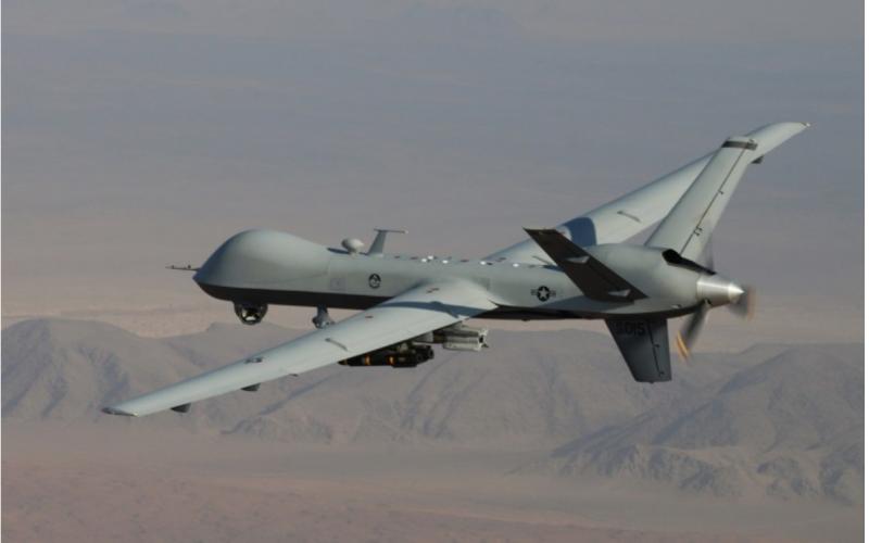 國際媒體《路透》獨家報導,美方打算向台灣出售至少4架MQ-9無人機的海軍版「海上衛士」(SeaGuardian)。圖為MQ-9死神無人機。(美聯社)