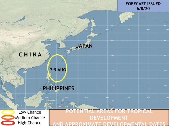 美國氣象專家傑森.尼科爾斯認為,該低壓系統有造成南韓、日本洪災的風險。(圖取自傑森.尼科爾斯推特)