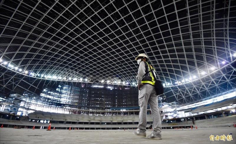 台北市政府今天宣布大巨蛋復工。(資料照)