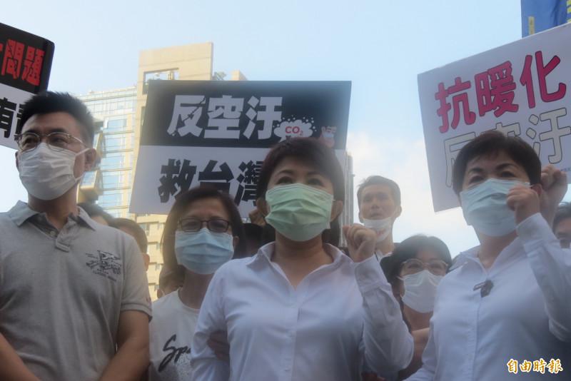 台中市長盧秀燕說,希望中央對入境者除了居家檢疫14天,也要一律篩檢。(記者蘇金鳳攝)