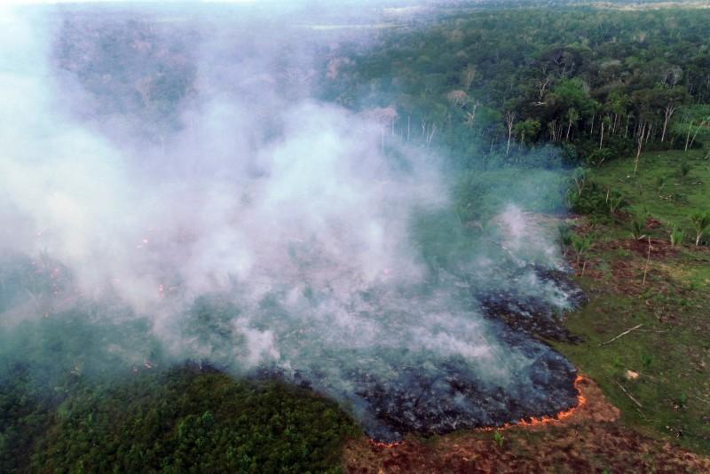 巴西亞馬遜地區7月出現6803起野火,專家警告,亞馬遜正瀕臨危險的轉捩點,恐在20年內崩潰並造成災難性影響。(法新社)