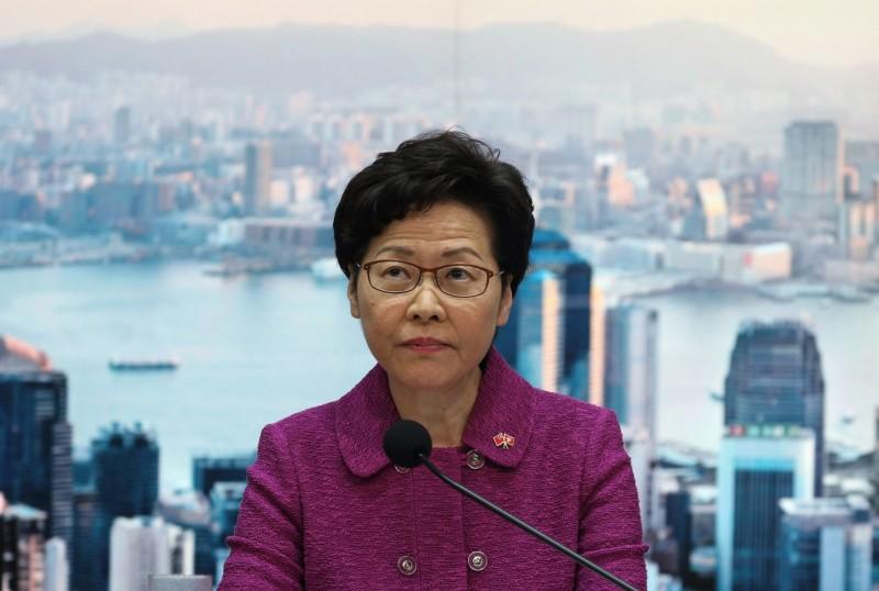 港府今回嗆美國制裁是「厚顏無恥、卑鄙」。圖為香港特首林鄭月娥。(歐新社)