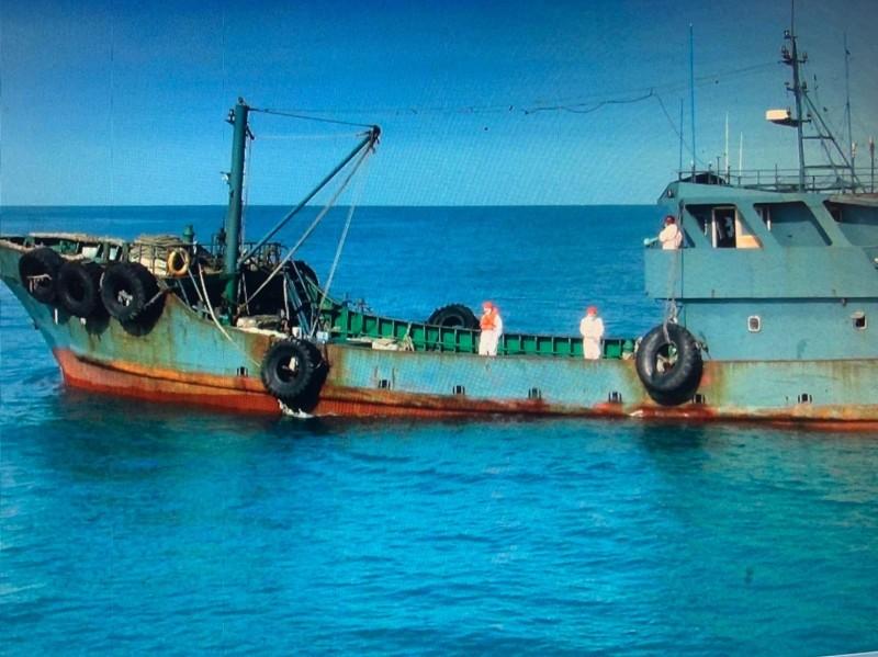 中國籍油船「長和58號」越界,被台中海巡隊查獲。(記者歐素美翻攝)