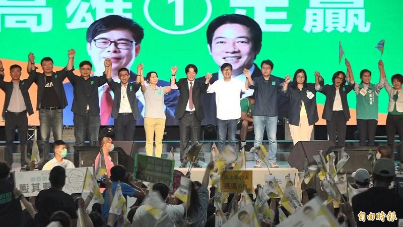 陳其邁「高雄大邁進」造勢 賴清德:得票衝過罷韓93萬票