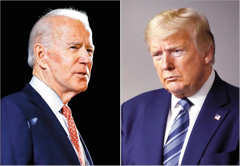 美國國家反情報與安全中心主任伊凡尼納7日公開警告,俄羅斯、中國與伊朗企圖干預2020的美國總統大選,俄羅斯不希望民主黨的拜登(左)勝選,中國則不想再看到川普(右)主政。(美聯社)