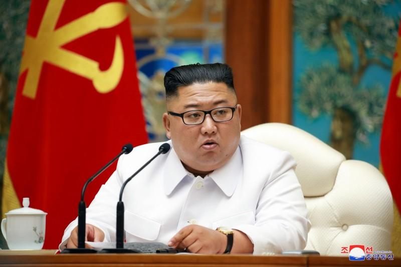 北韓領導人金正恩(見圖)上個月對開城實施封鎖令。(歐新社)