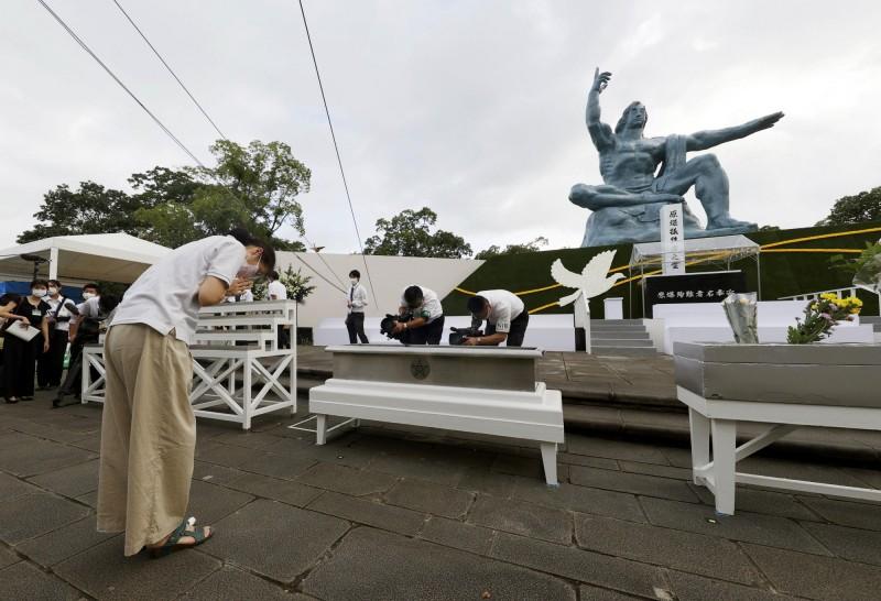 今日是長崎原爆75周年紀念日,和平紀念儀式規模因武漢肺炎疫情而縮小。(路透)