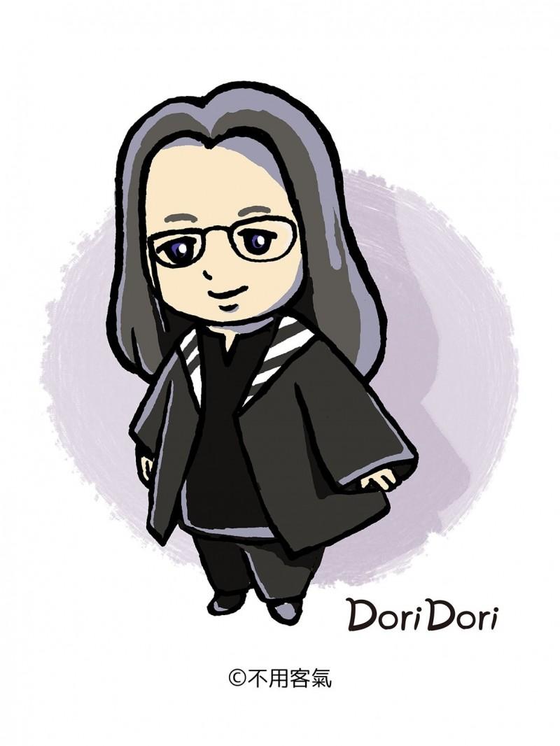 唐鳳Q版人物DoriDori誕生。(竹中溫雄提供)