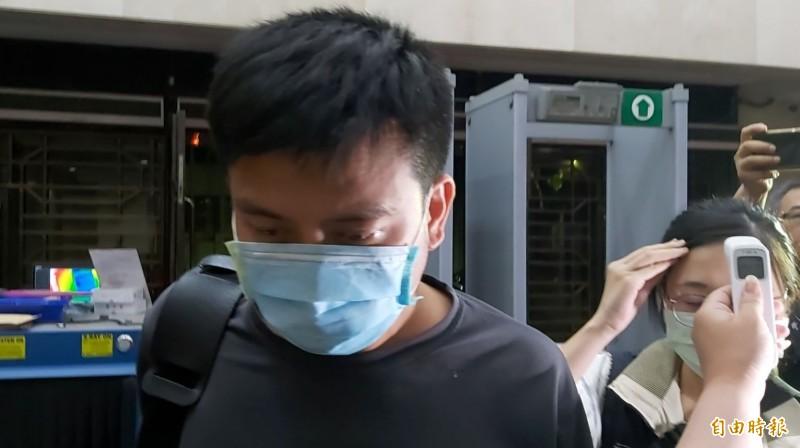 台北市後備指揮部中校李志交被聲押禁見。(記者陳慰慈攝)
