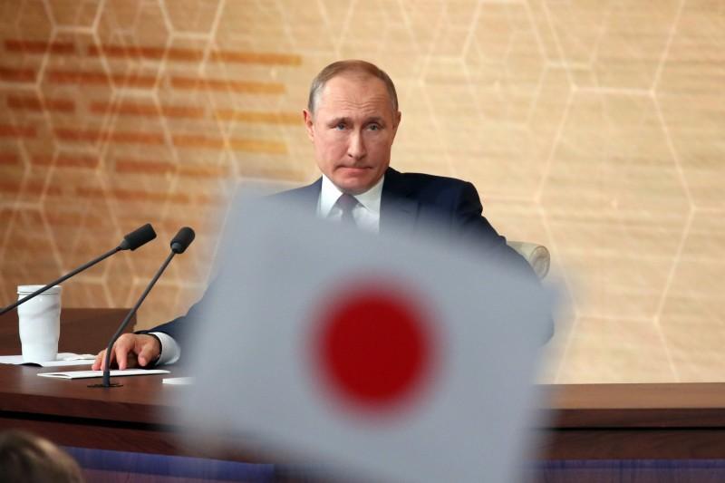 俄羅斯有國安官員表示,若日本放棄國家安和平主義政策,「俄羅斯將被迫做出反應」。圖為俄羅斯總統普廷。(彭博)