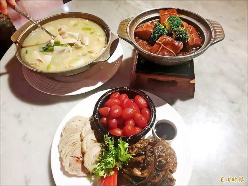 新月梧桐餐廳主打江浙菜,但走創意路線。(記者張菁雅攝)