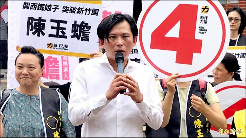 前時代力量黨主席黃國昌昨表示,會在第二線支持黨內新生代。(記者黃美珠攝)
