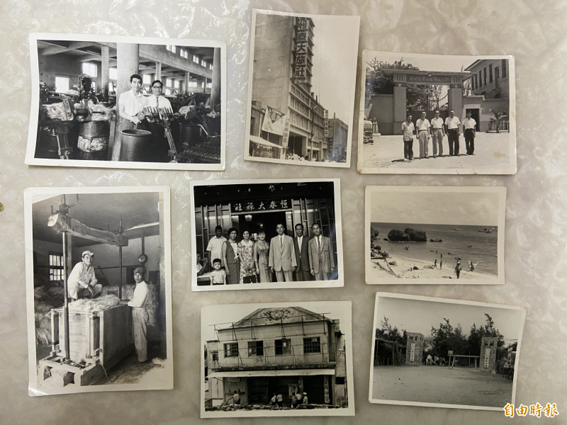 林博文捐出大批見證恆春歷史的老照片供念吉成研究。(記者蔡宗憲攝)