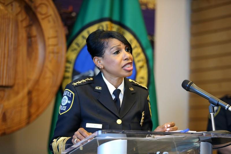 西雅圖警察局長貝斯特(見圖)週二宣布將離職。(法新社)