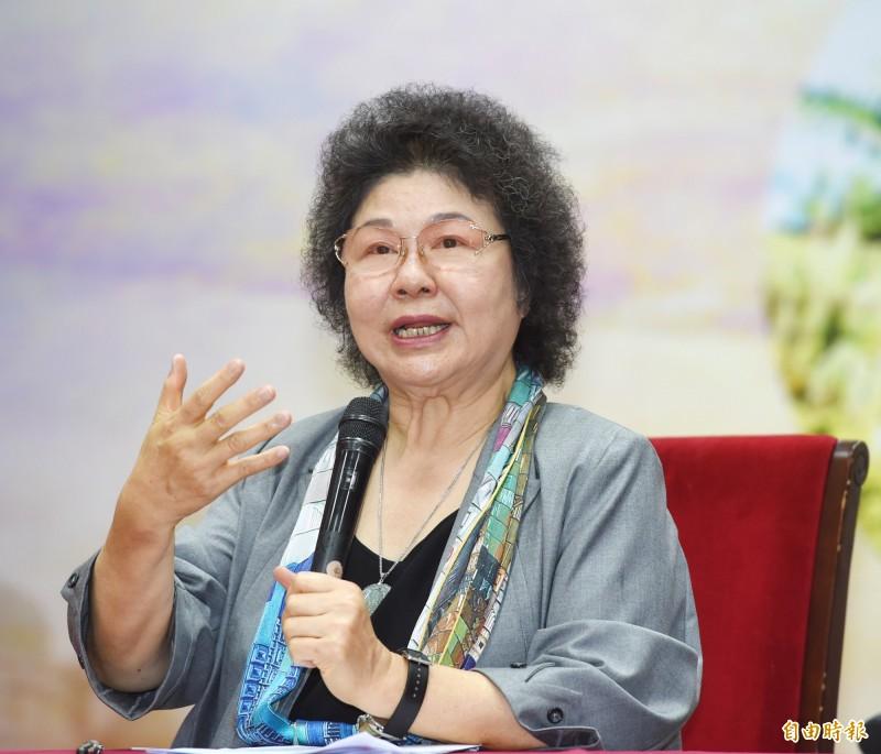 陳菊昨天強調人事任用公開公平。(資料照)