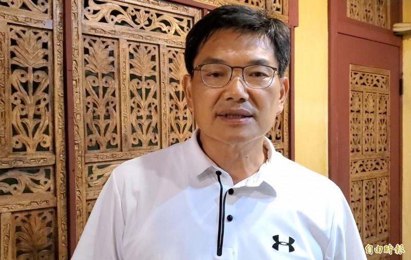 選戰倒數2天,吳益政再提大雙港計畫。(記者黃旭磊攝)