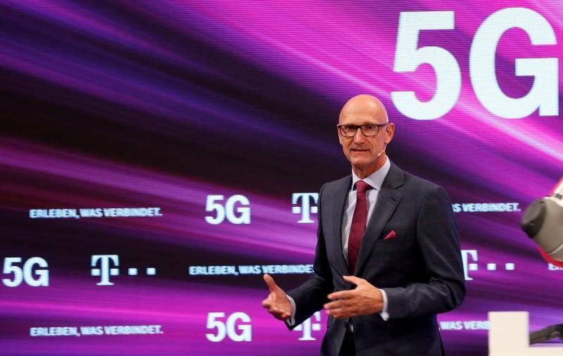 德國電信的CEO,霍特格斯反對德國政府封殺華為。(歐新社)